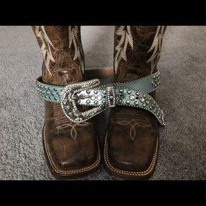 Accessories - Blue Bling belt
